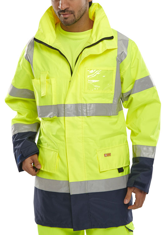 TWO TONE BREATHABLE TRAFFIC JACKET - BD109SYN