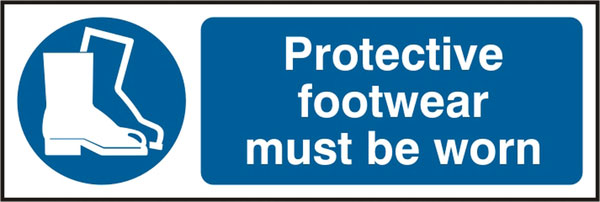 PROTECTIVE FOOTWEAR MUST BE WORN SIGN - BSS11385