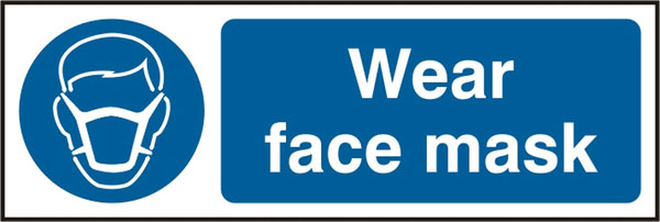 WEAR FACE MASK SIGN - BSS11389