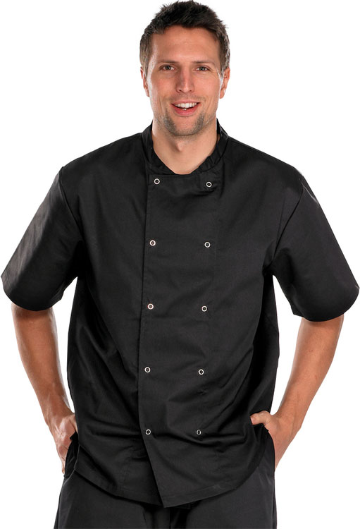 CHEFS JACKET  SHORT SLEEVE - CCCJSSBL