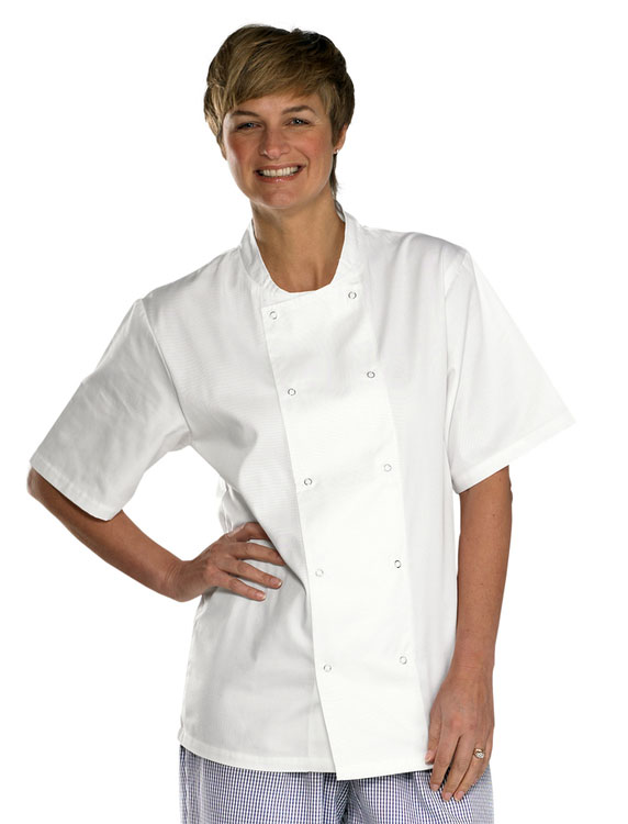 CHEFS JACKET  SHORT SLEEVE - CCCJSSW