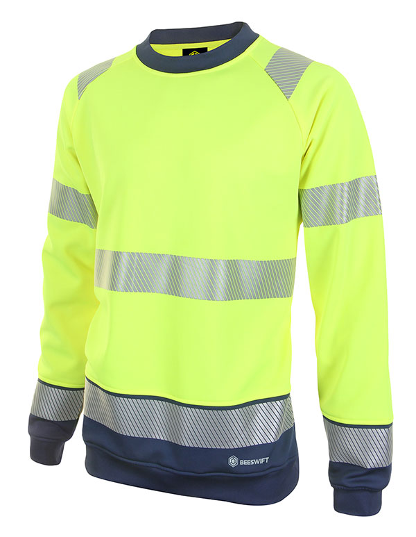 HIVIS TWO TONE SWEATSHIRT - HVTT020