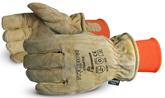 SNOWFORCE LEATHER FREEZER GLOVE - SU678AFTLK